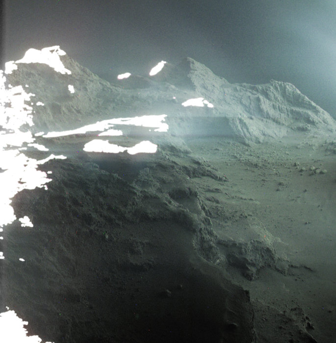 This is a real photo of the surface of a comet Comet-landscape