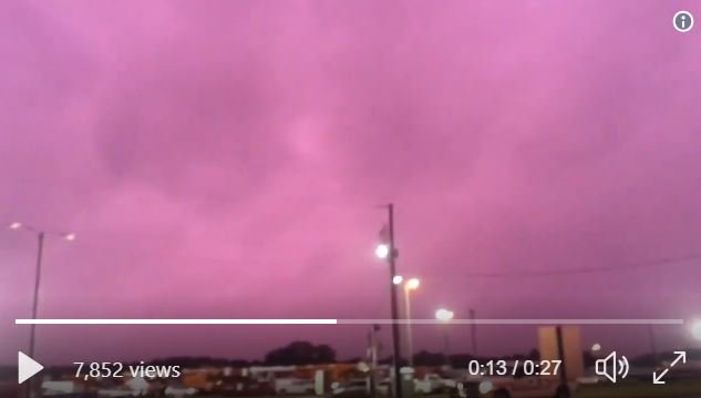 Sky turns purple over Florida and Ohio during Hurricane Michael  Purple-sky-florida-hurricane-michael-2