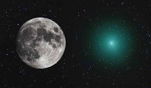 Comet 46P/Wirtanen still has a couple of weeks before closest approach (Dec 16th) BUT is already as big as a full Moon Comet-wirtanen-as-big-as-full-moon