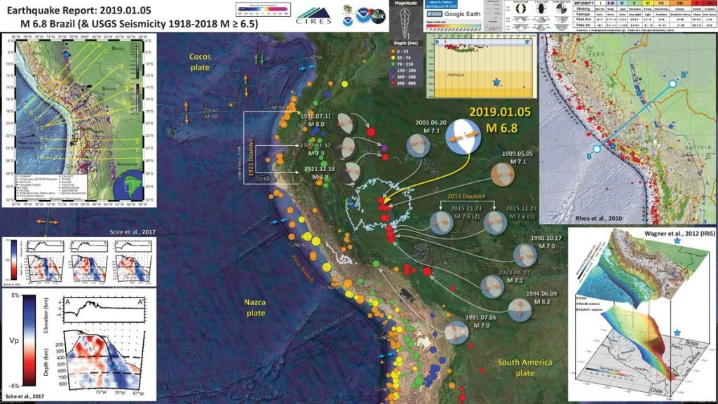 M6.1, M6.8 and M6.6 earthquakes hit Alaska, Brazil and Indonesia within 24 hours Brazil-earthquake-january-5-2018-1024x576