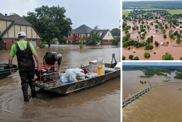 US flooding crisis - When the Levee Breaks Us-flooding-crisis-levee-breaches-arkansas-missouri