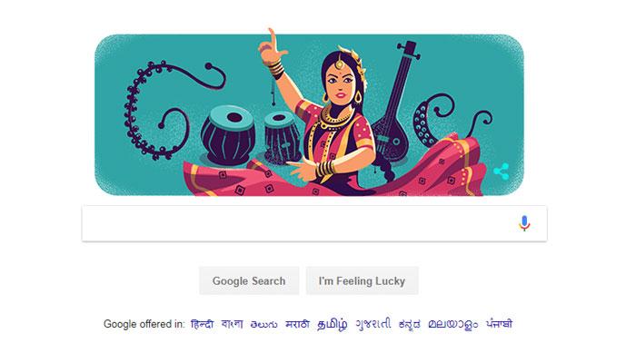 கதக் நடனக் கலைஞர் சித்தாரா தேவிக்கு கூகுளின் டூடுல்! Google-Doodle_0