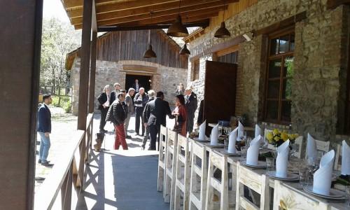 George Clooney at dinner in Dolmama restaurant in Dilijan, Armenia 13083374_561863280657770_2948451595580123334_n