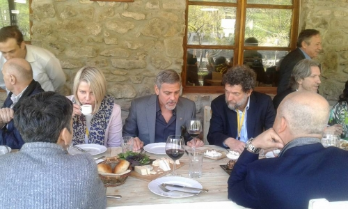 George Clooney at dinner in Dolmama restaurant in Dilijan, Armenia 30896