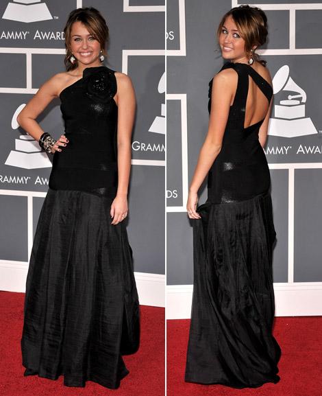 مايلي سايروس روعه Miley-cyrus-max-azria-grammy-2009-5