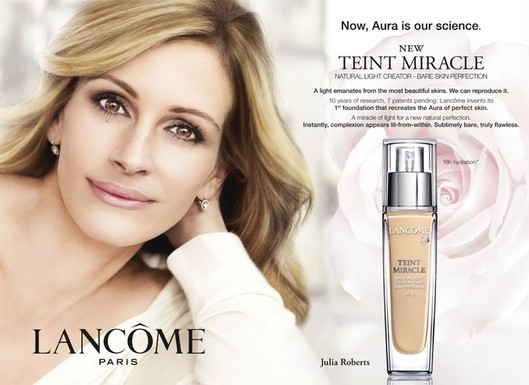 Provocative Advertising Lancome-teint-miracle-foundation-julia-roberts