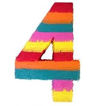 عد من 1 الى 5 واللى يوصل خمسه يقول اسمه الحقيقى - صفحة 2 Number-4-shaped-pinata