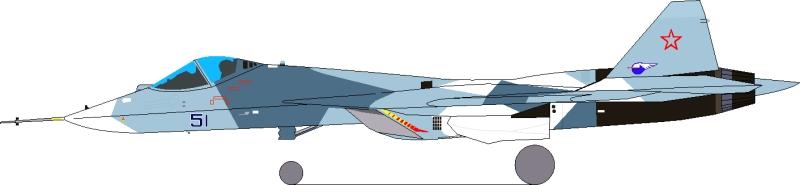 المقاتلة الروسية  T-50 الروبوت الطائر : مقاتلة الجيل الخامس  Pak-fa-2010-04