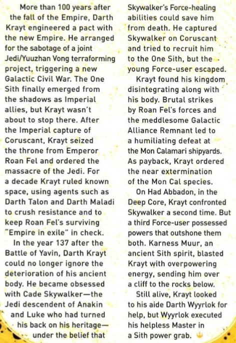 SS - The Tyrannical Ten - Darth Krayt (Azronger) vs Darth Tyranus (ArkhamAsylum3) - Page 2 Krayt_11