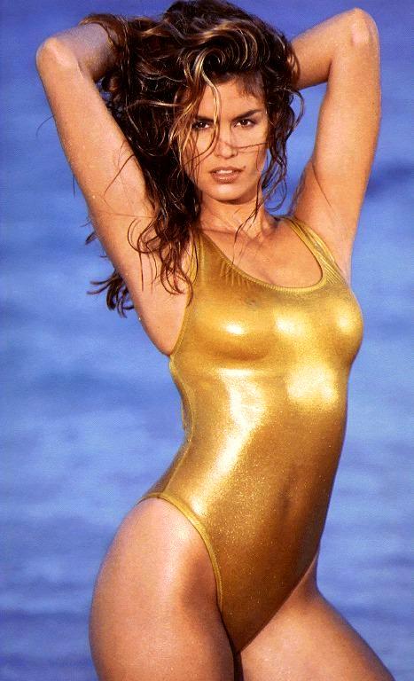 Vénus anadyomène Gold-one-piece-suit