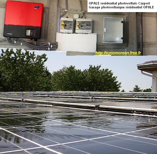 Optimisations Photovoltaïques Autonomes avec Liquides en Ecoulement (OPALE) OPALE_carport_montage