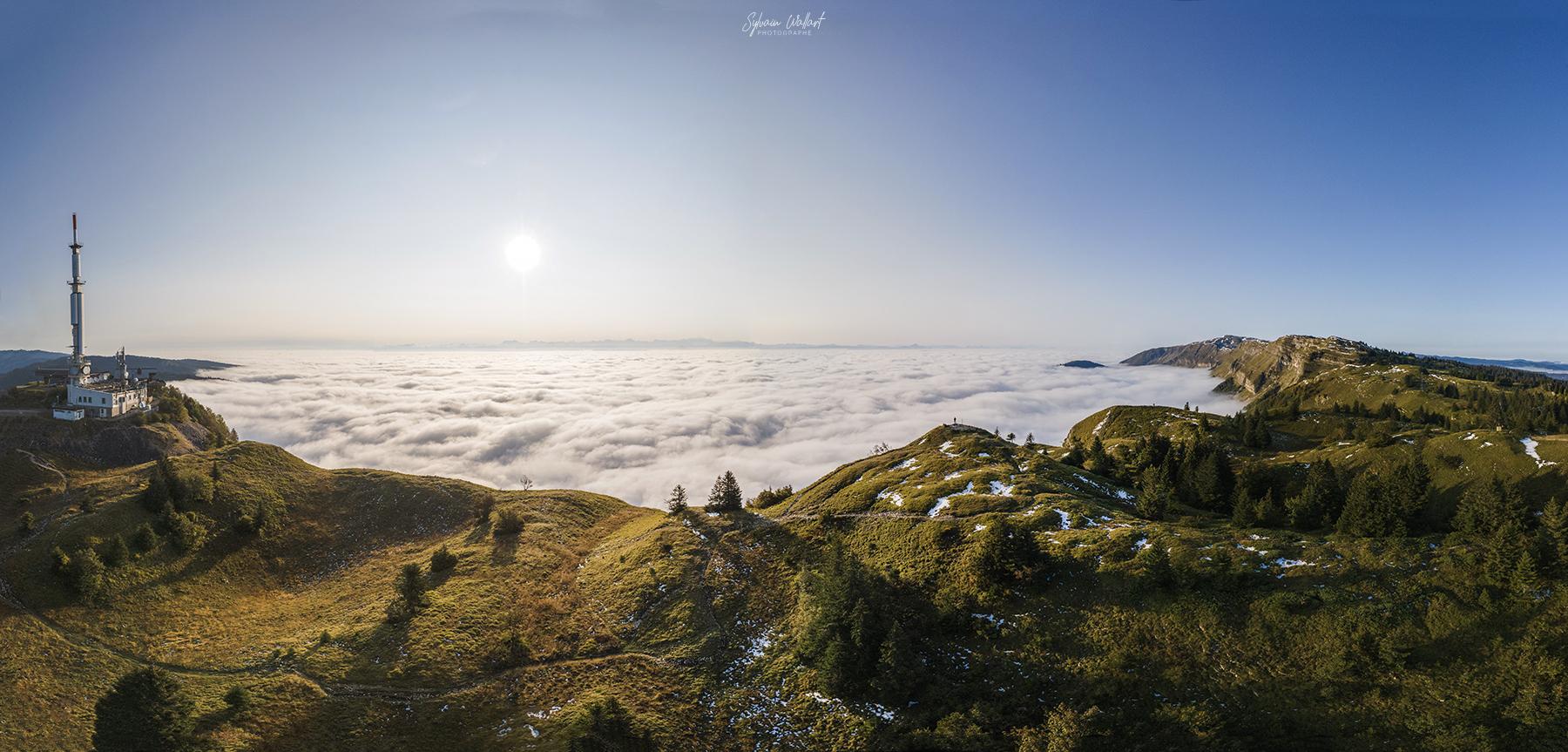 Le Jura, vidéo et photos du drone Mer-de-nuage_pano