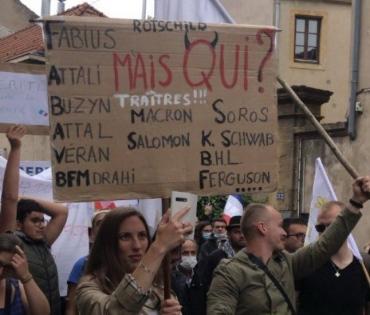 Affaire de la pancarte de Cassandre Fristot : le Système veut diaboliser les manifestants anti-pass . 604679781