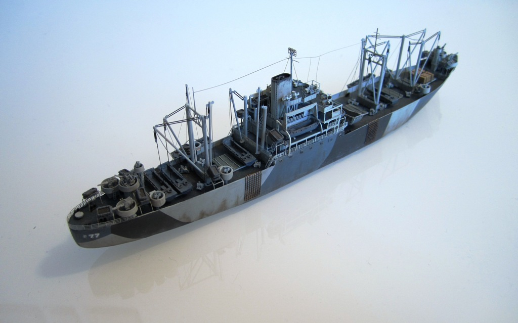 USS Thurston - Omaha beach D DAY - Cargo type C2 - 1/700 - Loose cannon & scratch - Nesquik 2