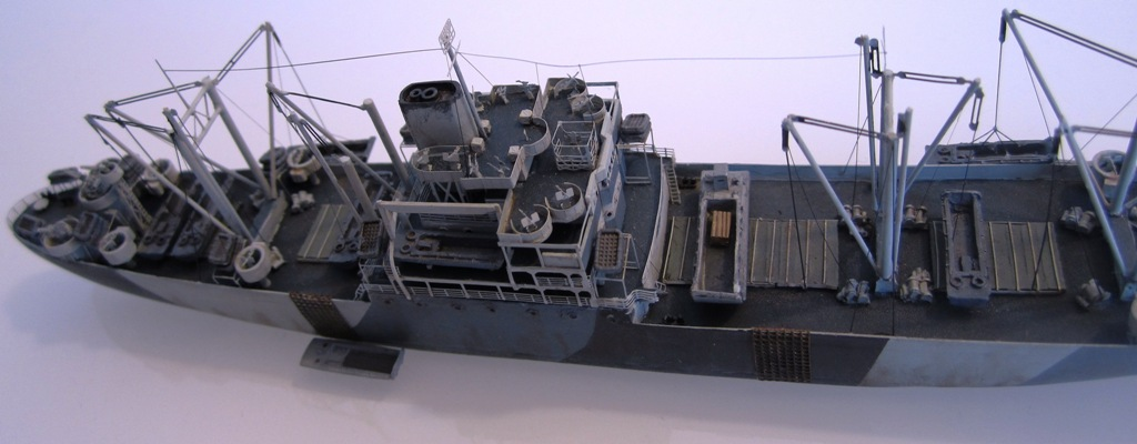 USS Thurston - Omaha beach D DAY - Cargo type C2 - 1/700 - Loose cannon & scratch - Nesquik 7