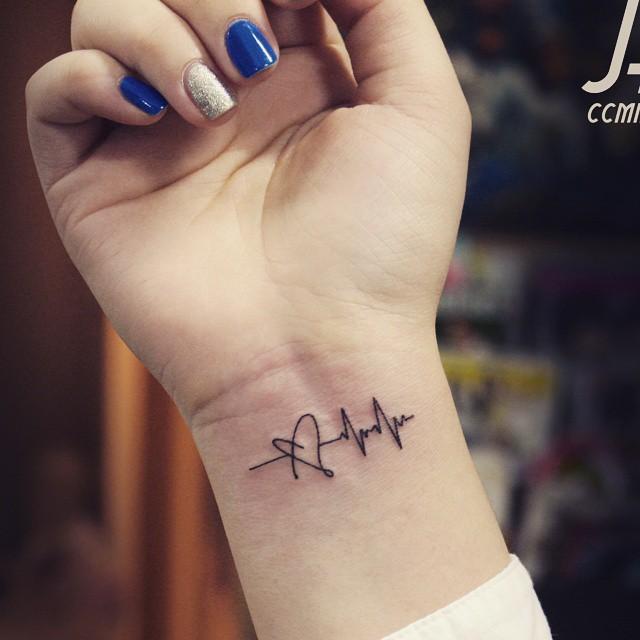 Skin Colors Heartbeat-tattoo-26