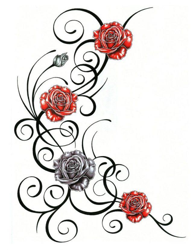 Métamorphose du présent en une rose éternelle Disegno-tatuaggio-rosa-tribale-e1469037564699