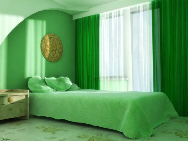 ديكورات باللون الاخضر Green_bedroom