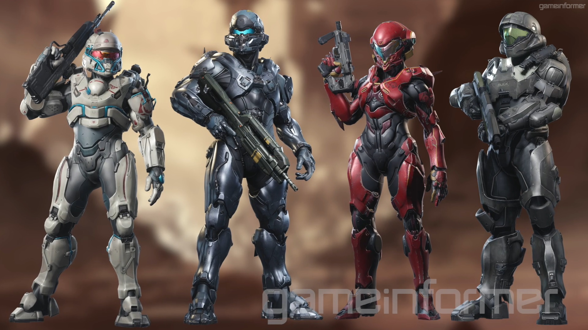 Personnages de Halo 5: Guardians (Characters/Héros/Didacte/Lasky/Palmer/Dr Halsey/Anderson/S179/S104/S043/Majestic Squad/Marines/Spartan 4/Linda 058/Kelly/Johnson/Guilty Spark/Arbiter/Master Chief/Cortana/Forerunner/UNSC/Rampacy/John 117/ODST/Spartan) Fireteam-Osiris