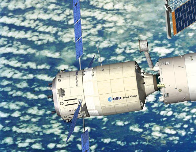 L'orbite de l'ISS rabaissée par le Jules Verne ! ATV-ISS