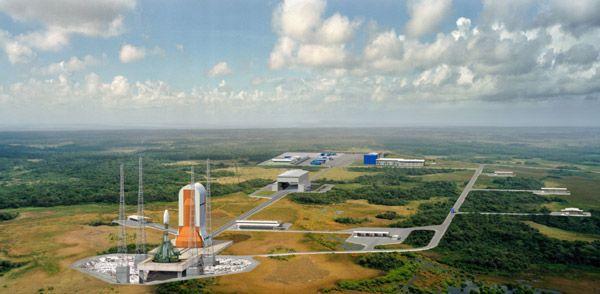 Déjà quatre tirs de prévus pour la fusée Soyouz à Kourou Soyouz-Pas-de-tir