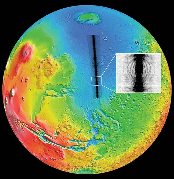 Mars Express - Mission en orbite martienne Mars-Express-marsis-sous-sol