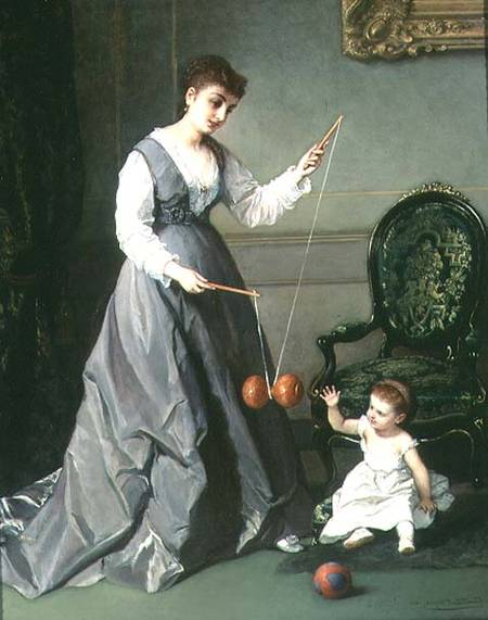 JUGUETES  ANTIGUOS  Cesare-Felix-dell-Acqua-Angelo-e-Diavolo-1868