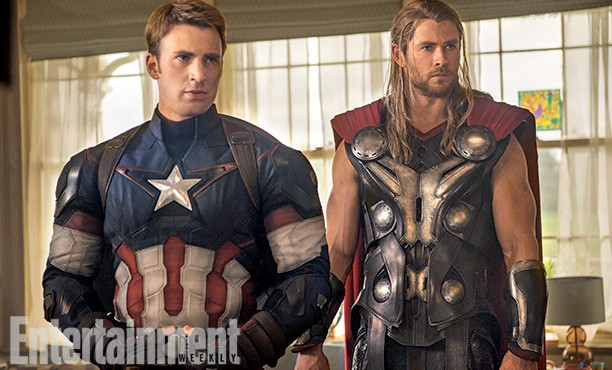 Marvel Cinematic Universe: The Avengers y más. - Página 36 The-Avengers-2-Age-of-Ultron-Photo-EW-Captain-America-Thor-612x370