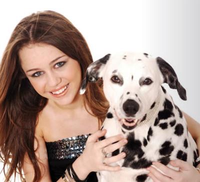 صور هانا مونتانا يجننوا Miley_with_dog