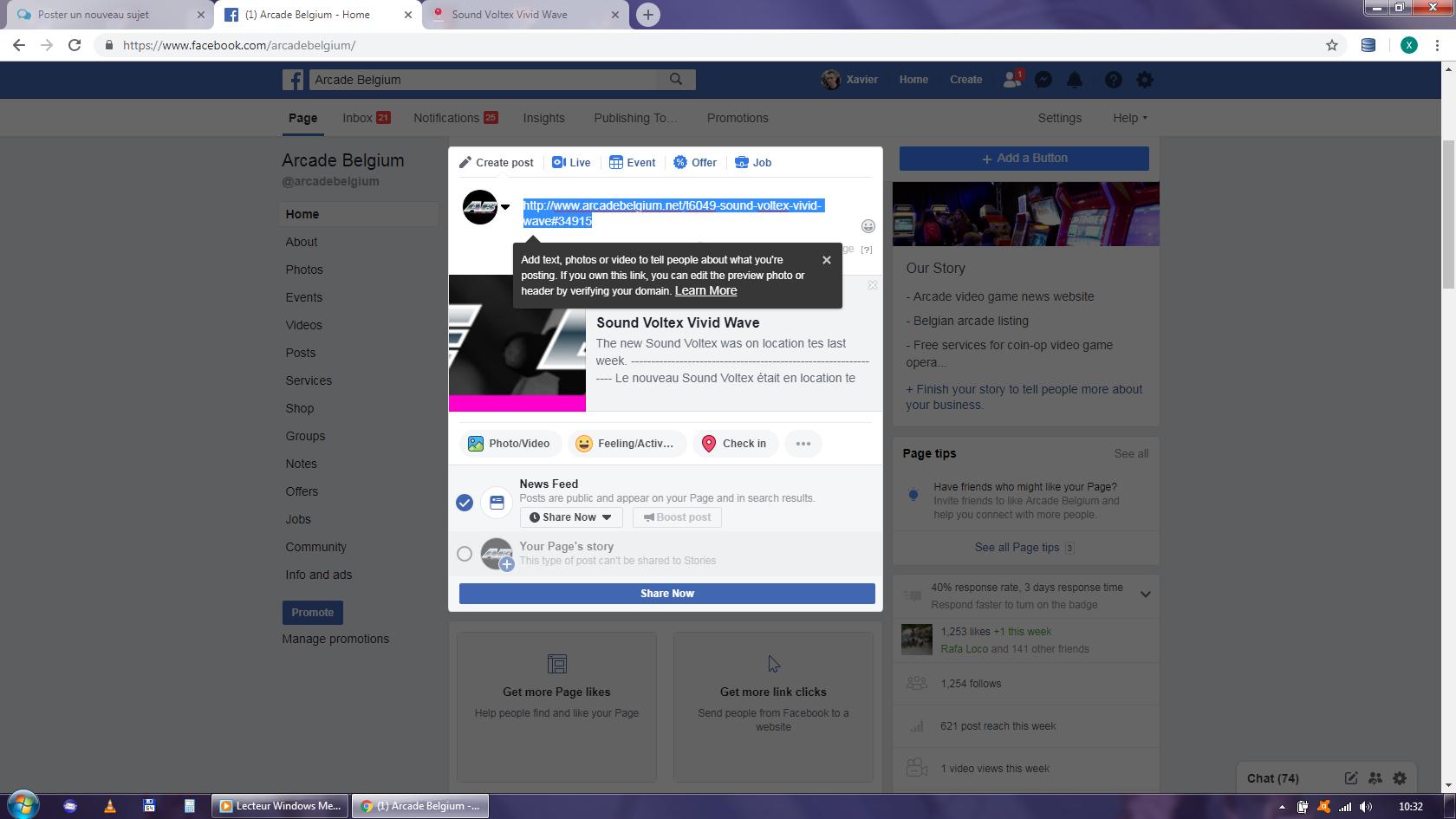 Comment prouver à Facebook que l'on est propriétaire du nom de domaine. Facebook