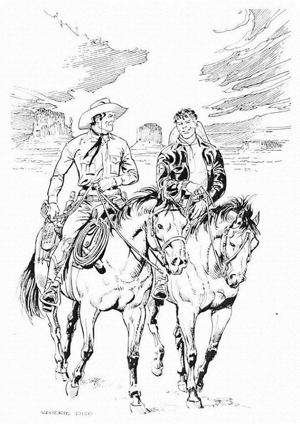 Anteprima tavole e storie in lavorazione - Pagina 24 Tex-e-Mister-No-na-arte-de-Roberto-Diso