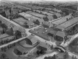 El Saqueo de Ommlet Medieval_village_concept_by_shawcj-d4ilsq6