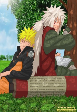 تضحية اعظم شخصيات ناروتو Under_a_Tree___Naruto_Jiraiya_by_Sahil69