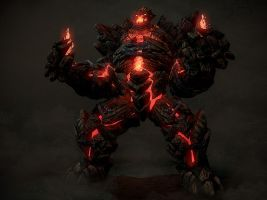 Victor Kreed(Done) Fire_golem_by_cbinder-d3hqdg2