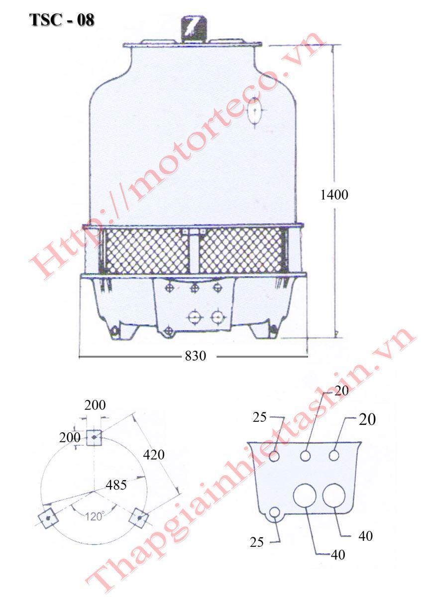 Tháp giải nhiệt nước Tashin 8RT: Thông tin chi tiết và ứng dụng Thap-giai-nhiet-nuoc-tashin-8RT-bv