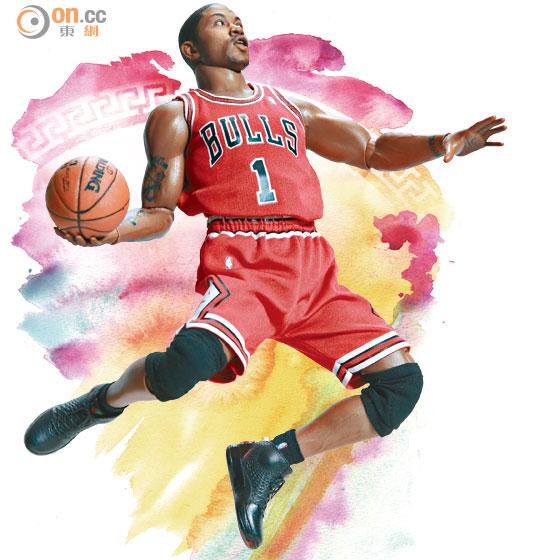 [Enterbay] NBA Real Masterpiece: Derrick Rose (Chicago Bulls) 0130-00487-001b1