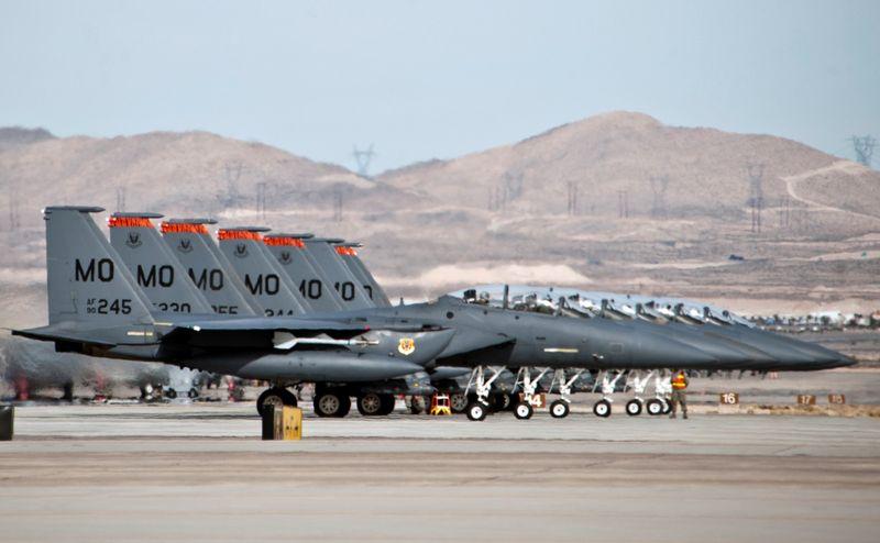 Red Flag 2014 F-15E-lineup