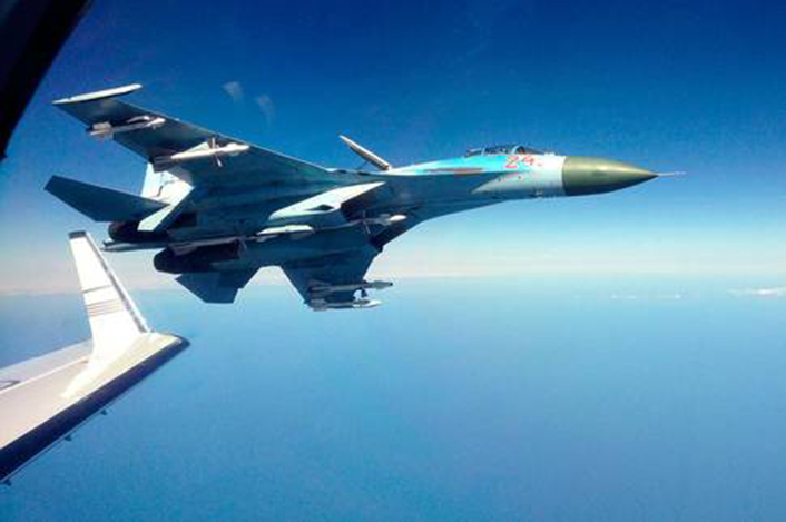 Intercepción Aérea Su-27-intercept