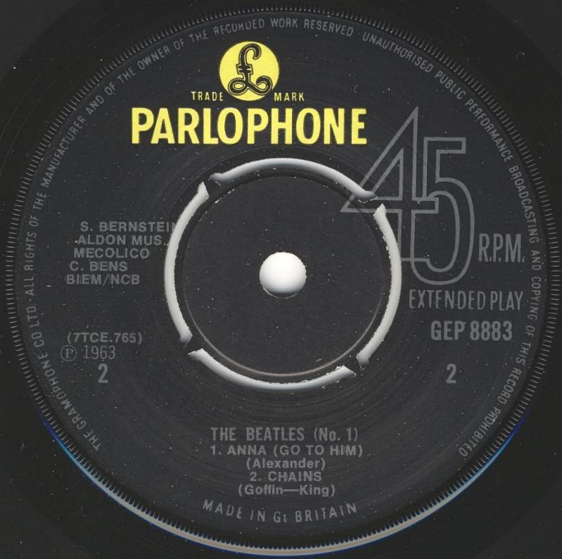 The Beatles No.1 GEP-8883-1969-B