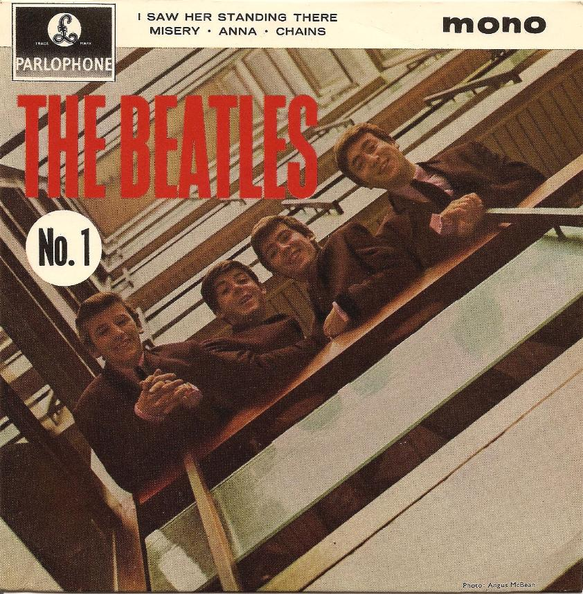 The Beatles No.1 GEP-8883-1st-GL-Sleeve-A