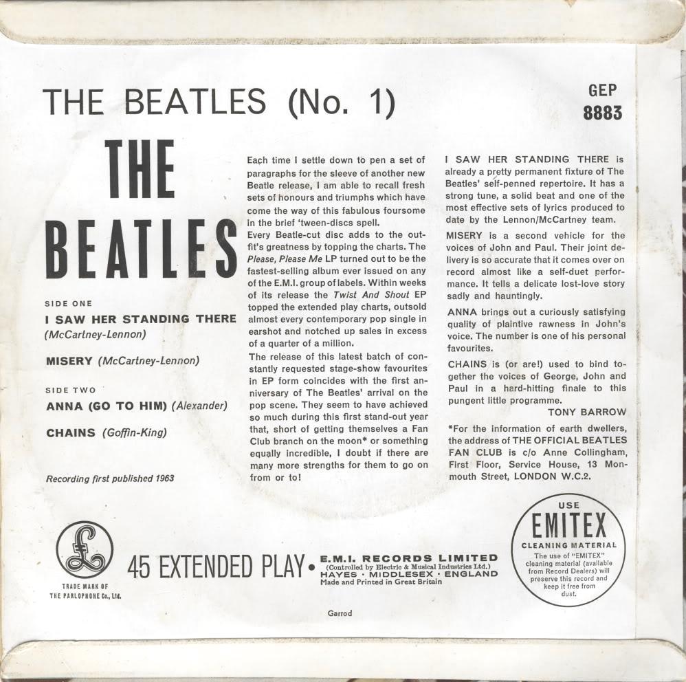 The Beatles No.1 GEP-8883-1st-GL-Sleeve-B