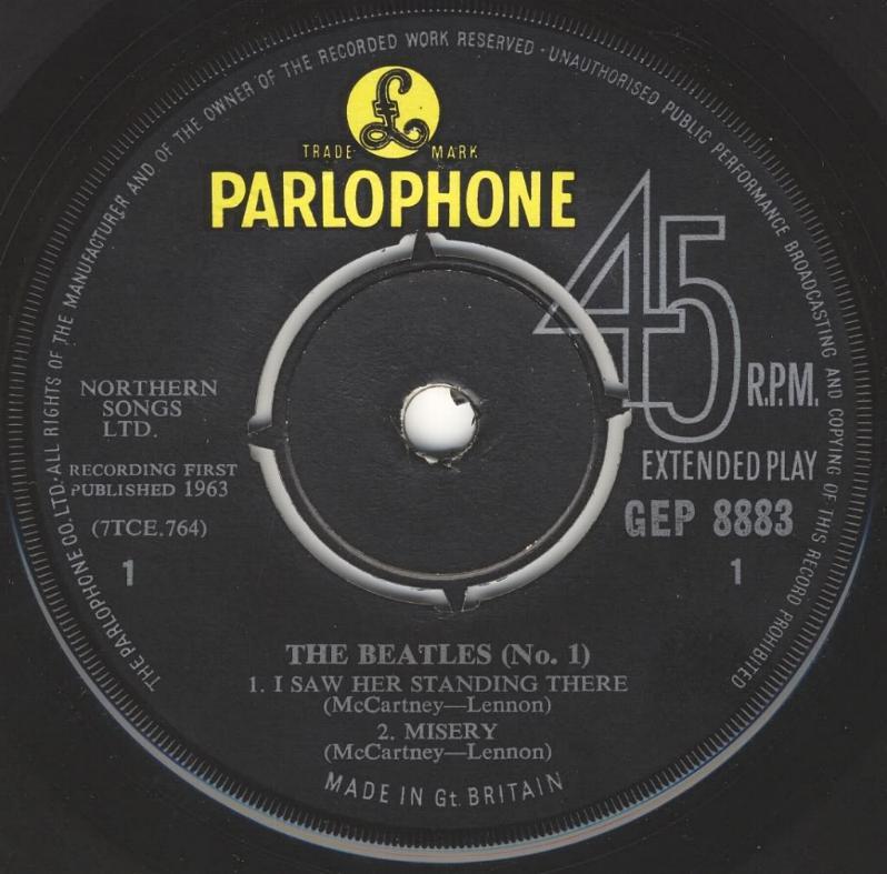 The Beatles No.1 GEP-8883-1st-V1-A