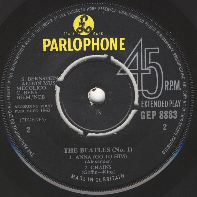 The Beatles No.1 GEP-8883-1st-V1-B