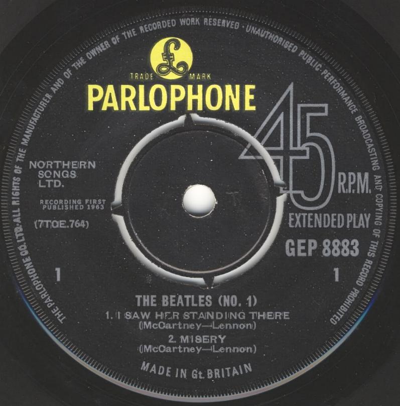 The Beatles No.1 GEP-8883-1st-V2-A