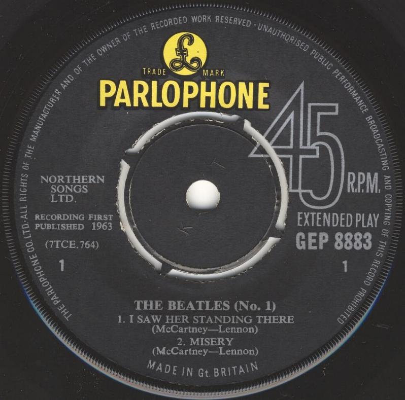 The Beatles No.1 GEP-8883-1st-V3-A