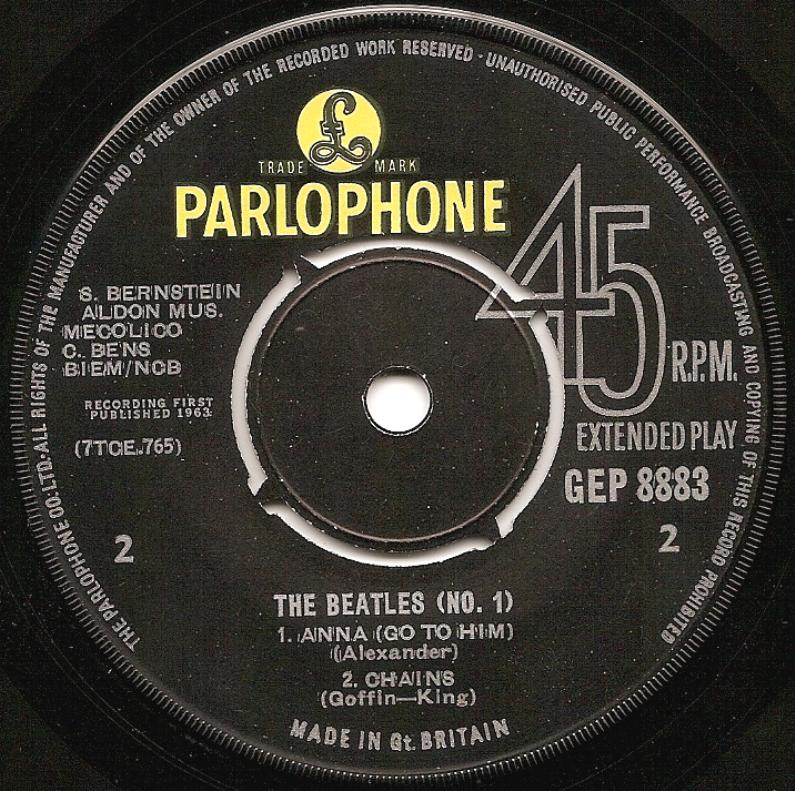 The Beatles No.1 GEP-8883-1st-cr-B