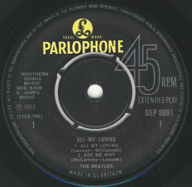 All My Loving GEP-8891-1969-A