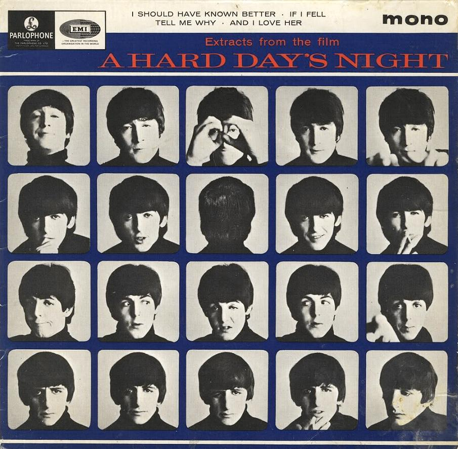 """Extract From The Film """"A Hard Day's Night"""" GEP-8920-1st-EJD-Sleeve-A"""