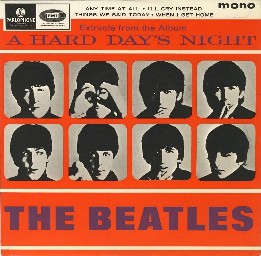 "Extract From The Album ""A Hard Day's Night"" GEP-8924-1st-Sleeve-A"