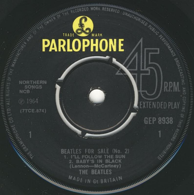 Beatles For Sale No.2 GEP-8938-1969-A